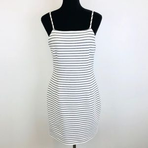 1.State Striped Havana Rib Knit Bodycon Dress